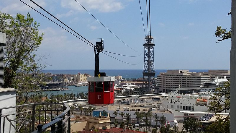 Cable Car over Barcelona harbour