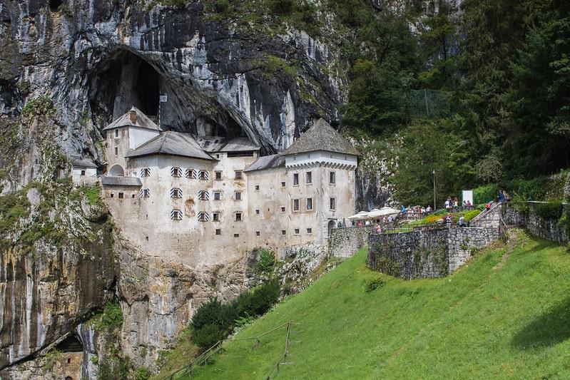 Explore the cave-Predjama Castle