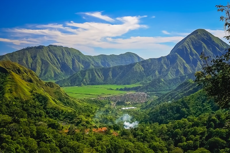 Landscape of Lombok Island