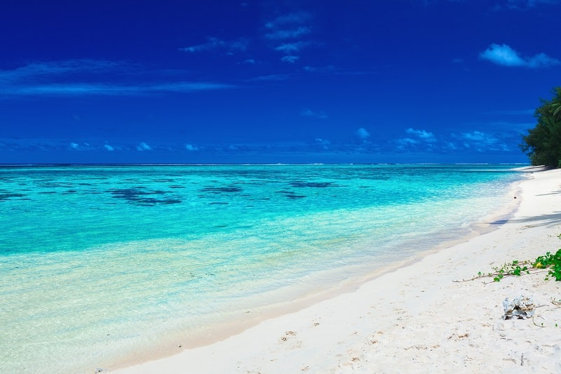 Rarotonga Beach on Cook Islands