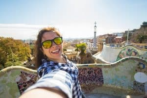 Selfie in Park Guell Barcelona