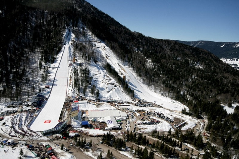 Take a long ski jump at planica