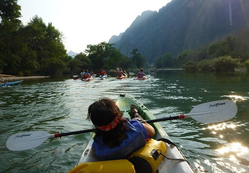 Rafting laos vang vieng