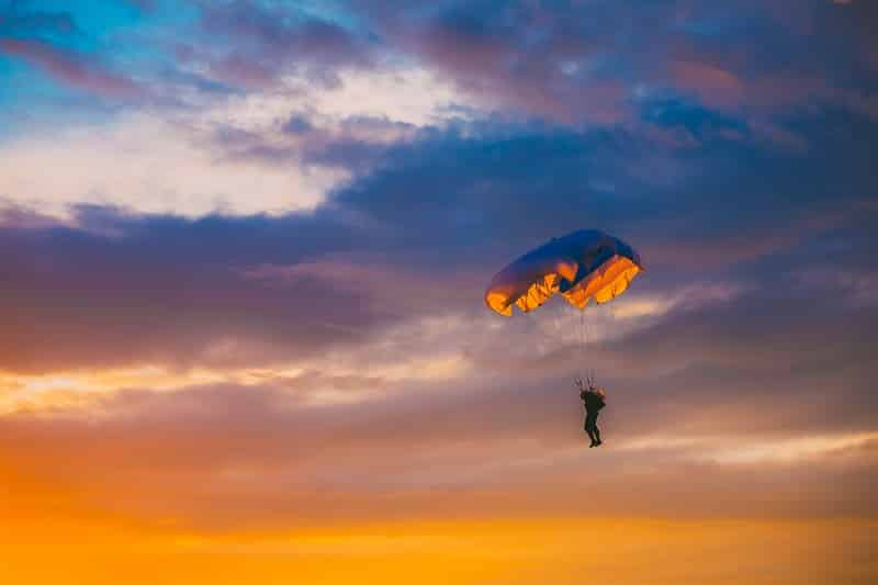 Sky Diving on Parachute