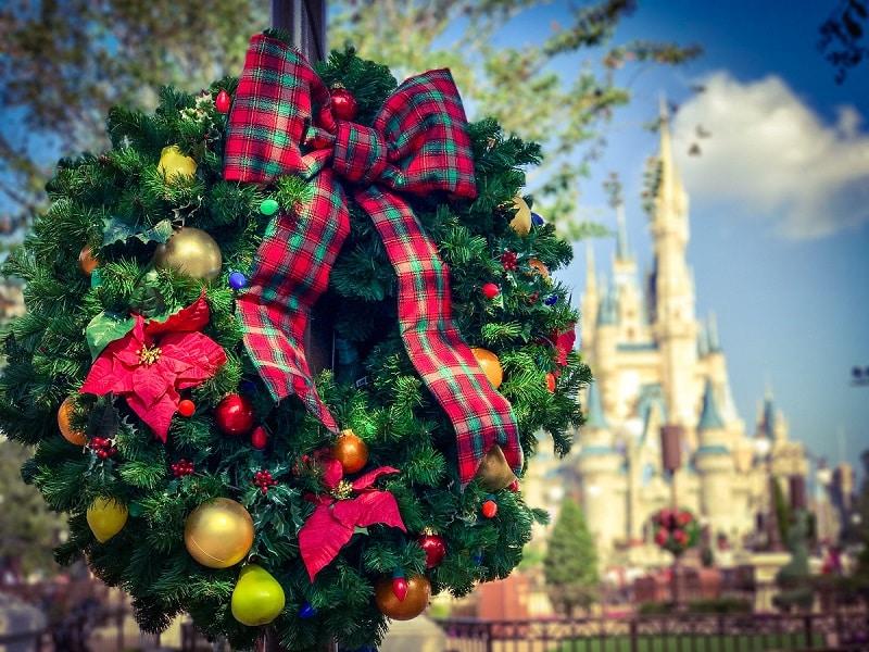 Christmas at the magic kingdom walt disney world, orlando. florida