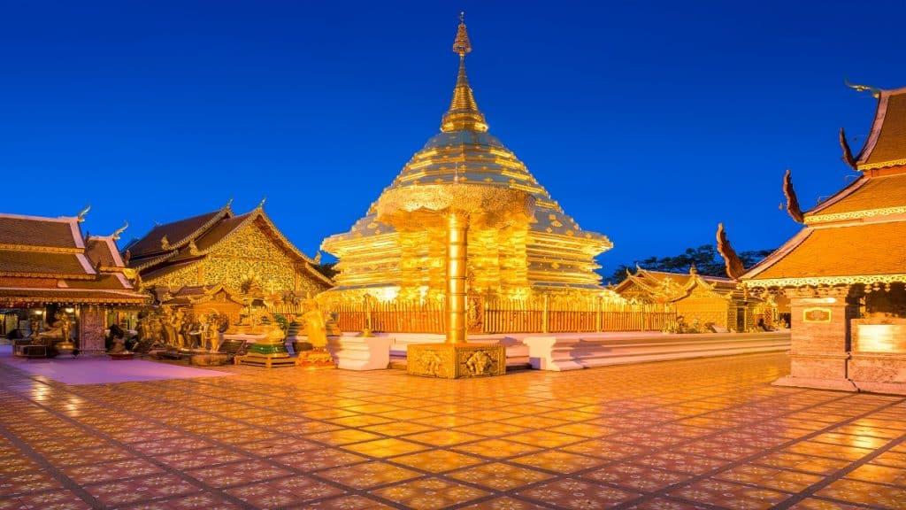 Wat Phra That Doi Suthep Temple of Chiang Mai, Thailand
