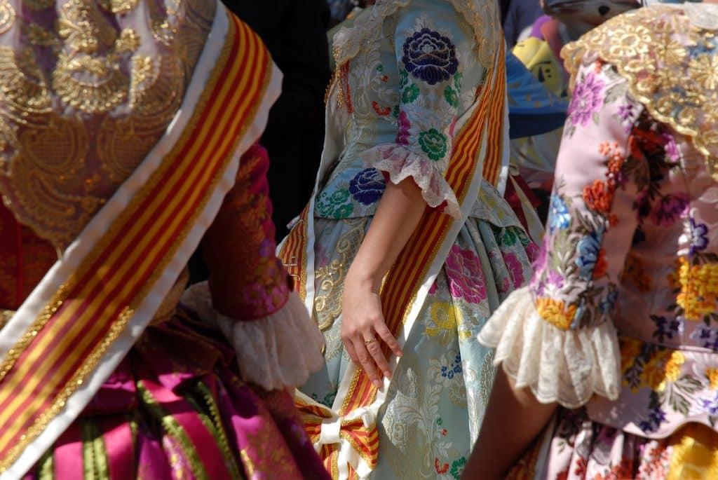 Spanish Dresses at las fallas